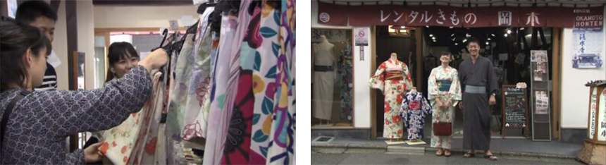 newsフェイスで人気のレンタル着物店として紹介