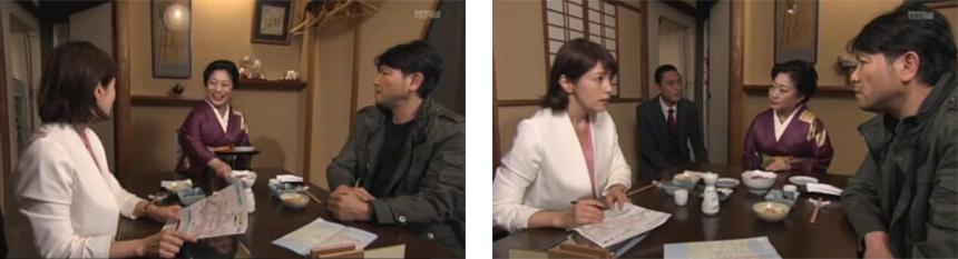 小料理屋「てまり」の女将として出演された「山村紅葉」さんに衣装提供
